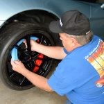 Install the disc brake rotor protectors