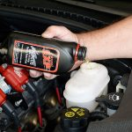 make sure your pressure bleeder has an adequate supply of brake fluid