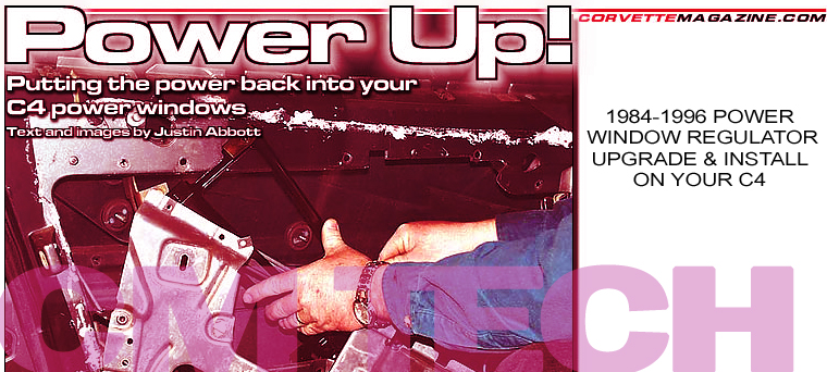 How to install a C4 Corvette Power Window Regulator