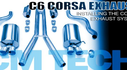 How to install C6 Corvette Corsa Exhaust