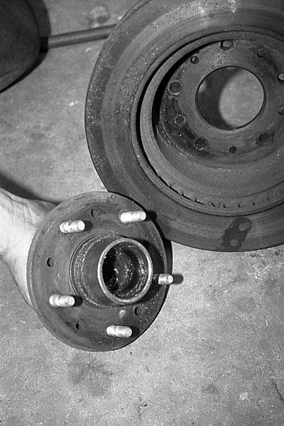 Brake Rotor Rivets : Corvette brake rotor replacement magazine