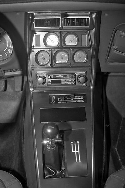 1980-1982 Corvette Shift Console Plate w//Defrost /& PW