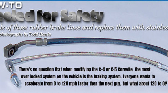 How to install Stainless Steel Brake Hoses