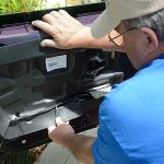 installing c4 corvette Repro Door Panels 20
