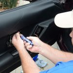 installing c4 corvette Repro Door Panels 27
