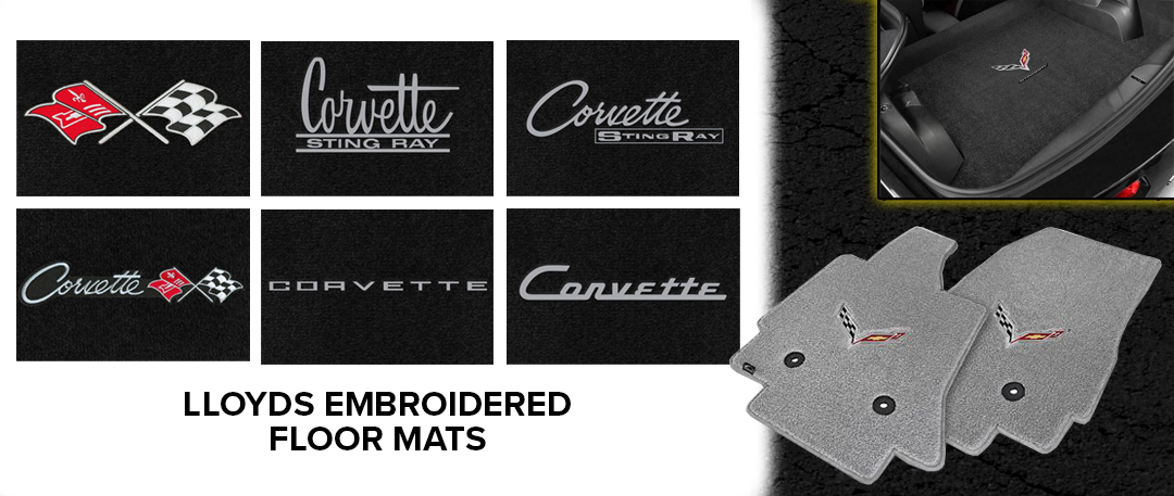 lloyd floor mats emblem zip corvette